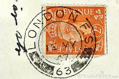 london vintage stamp
