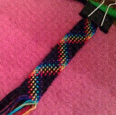 New Blog Post! Plaid Friendship Bracelet (in-progress)