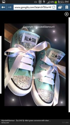 Blinged out converse lol