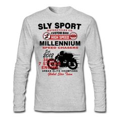 SLY SPORT MOTORCYCLES CO. CUSTOM BIKE, HIGH SPEED, MILLENNIUM SPEED CHASERS, EST. 2012, 381CC. 7 STROKE ENGINE, URBAN ELITE CHAMPIONS, GLOBAL STAR TEAM.