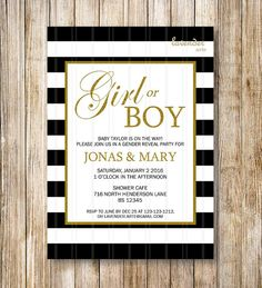 Hey, I found this really awesome Etsy listing at https://www.etsy.com/listing/238308401/black-white-stripes-gender-reveal-party