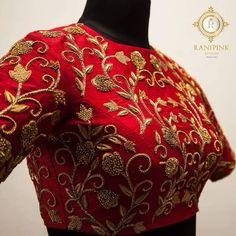 maggam work bridal blouse designs for silk sarees maggam work bridal saree blouse designs, pattu saree blouses, aari work blouse designs, arya work blouse catalogue, ranipink studio Pattu Saree Blouse Designs, Fancy Blouse Designs, Bridal Blouse Designs, Zardosi Work Blouse, Hand Work Blouse Design, Blouse Designs Embroidery, Blouse For Silk Saree, Zardozi Embroidery, Indian Blouse