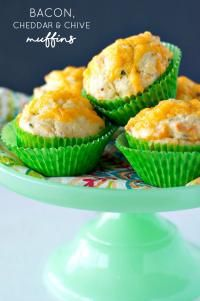 Bacon Cheddar and Chive Muffins on MyRecipeMagic.com