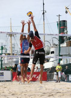 SWATCH Beach Volleyball Major Series FIVB, Stavanger, Norway, summer 2015. Polen vs France.