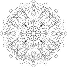 10. Flower Mandala printable coloring page. by PrintBliss on Etsy