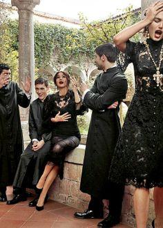 Monica Bellucci and Andreea Diaconu for Dolce & Gabbana campaign fw2013