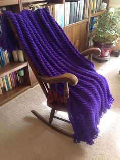 Amethyst Afghan New hand crochet shipping included by YarnQueens