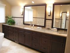 Bathroom vanity    oil rubbed bronze hardware on darker cabinets? - Kitchens Forum - GardenWeb