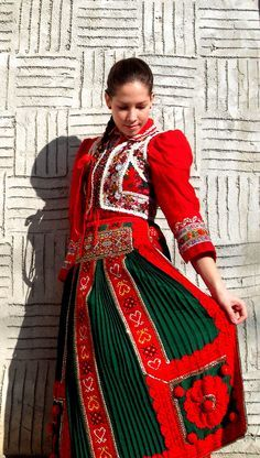 girl in a beautiful traditional clothing from Kalotaszeg, Romania