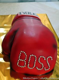 Boxing glove cake athlete  Cake for the boss and chief