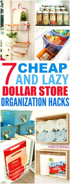 These 7 Dollar Store hacks from the experts are THE BEST! I'm so happy I found these AWESOME tips! Now my home will looks so less cluttered! I'm SO pinning for later!