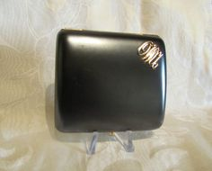 1940's Cigarette Case Vintage Cigarette Case With Sapphire clasp From PowerOfOneDesigns