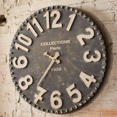 Large Black Wall Clock | by Antique Farmhouse