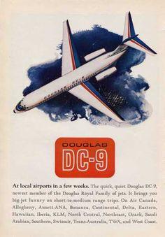 Douglas Dc-9 Plane Jet (1965)