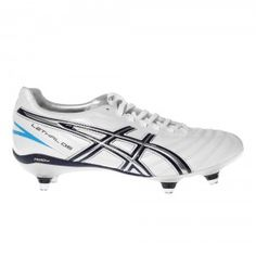 29f9cfe68f93 Asics Lethal DS 3 ST Soft Ground Rugby Boot - Pearl White   Navy Blue Pearl