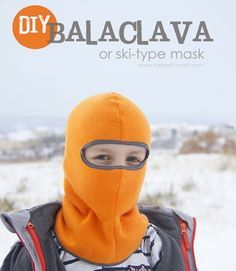 Sewing For Kids - Ashley from Make It and Love It shares a free pattern for making a child-sized Balaclava – that's a fancy word for a ski mask hat. The fleece hat covers the head and neck and most of t… Fleece Hat Pattern, Fleece Patterns, Sewing Patterns Free, Free Sewing, Free Pattern, Hat Patterns, Fleece Projects, Sewing Projects For Kids, Sewing For Kids
