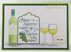 The Crafty Thinker: Stephanie Fischer - Independent Stampin' Up Demonstrator: Half Full of Chardonnay