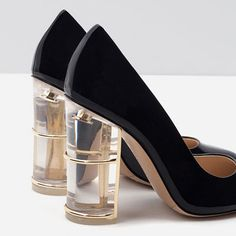 Image 7 of COURT SHOES WITH HEEL DETAIL from Zara