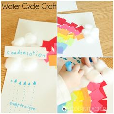 Astrobrights Water Cycle Craft by A Modern Teacher