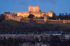 Dover Castle at night, Dover, Kent