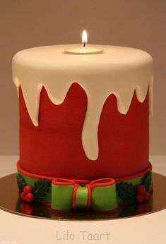 Christmas candle cake.  Love it!