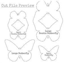 Tarjeta 3D con mariposas. Indicaciones y plantillas.