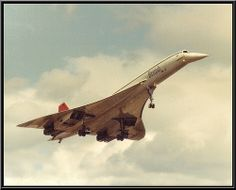 Concorde at Coventry Airport 1980s