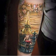 Leading Tattoo Magazine & Database, Featuring best tattoo Designs & Ideas from around the world. At TattooViral we connects the worlds best tattoo artists and fans to find the Best Tattoo Designs, Quotes, Inspirations and Ideas for women, men and couples. Bild Tattoos, Love Tattoos, Picture Tattoos, Body Art Tattoos, Tatoos, Amazing Tattoos, Paris Tattoo, Tattoo Life, Eiffel Tower Tattoo
