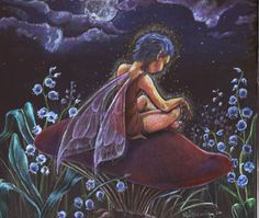 I was experimenting with coloured pencils on black card. illuminated fairy sitting amongst Lilly of the Valley. made early in the year in 2004 Lilly of the Night Dragons, Fairy Paintings, Kobold, Fairy Pictures, Fairytale Fantasies, Clip Art, Fantasy Images, Fairy Land, Fairy Tales