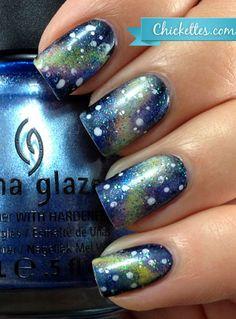Chickettes.com Galaxy Nail Art