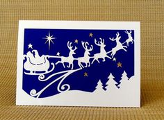Dashing Through the Night Santa Sleigh and Reindeer - CUP693659_1577   Craftsuprint