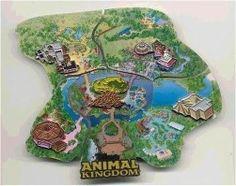 LE Disney Pin Set WDW Cast Member Atlas #8 Animal Kingdom Park Puzzle Map RARE