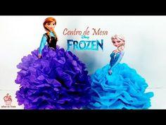 ¿Cómo hacer un centro de mesa de Frozen? Para mesa principal Fácil y rápido - YouTube