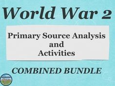 This extensive 16 item bundle gives your students a variety of ways of reinforcing what they learned about different WW2 topics, and even learning about new ones. They work for individuals, pairs, or groups and would be great of when you have a sub!