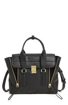 Free shipping and returns on 3.1 Phillip Lim 'Pashli - Medium' Shark Embossed Leather Satchel at Nordstrom.com. Exposed-zip gussets and gleaming metallic hardware complement the clean, sophisticated silhouette of a structured signature satchel crafted from shark shagreen-embossed leather.