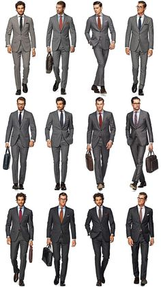 Whether you opt for a mid-grey or charcoal design, a grey suit is undeniably classic and can be dressed up in a number of ways. The right man for the job. Mens Fashion Suits, Mens Suits, Interview Suits, Job Interview Outfit Men, Terno Slim, Shirt And Tie Combinations, Color Combinations, Charcoal Gray Suit, Grey Suit Men