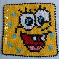 Knitted Washcloths, Knitted Slippers, Crochet Squares, Washing Clothes, Pot Holders, Minions, Diy And Crafts, Cross Stitch, Knitting