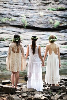 Down to the River (Dressing Your Bridesmaids) — Hazel + Scout Chic Wedding, Dream Wedding, Boho Bridesmaids, Lovers Lane, Green Wedding Shoes, On Your Wedding Day, Cat Lady, Getting Married, Boho Chic