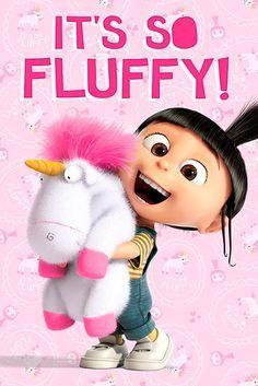 Póster Agnes y Unicornio. Gru: Mi Villano Favorito Divertido póster con la imagen de la adorable Agnes con su tierno y suave Unicornio.