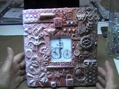 Mixed Media Picture Frame - Recycled Art - Inspired By LuvLeeScrappin - YouTube