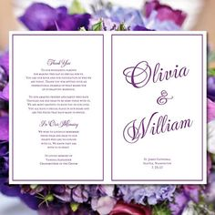 Printable Wedding Program Template Sierra by WeddingTemplates