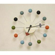 mid century danish modern nelson style sunburst ball wall clock