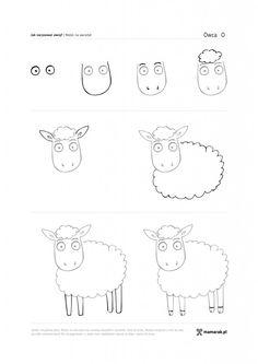 jak narysować owcę?