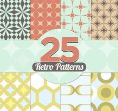 Free download: 25 Retro Patterns
