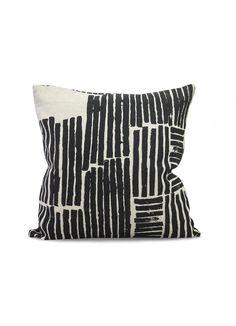 Logs Linen Cushion Cover // via: Fawn Shoppe