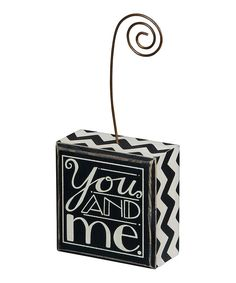 You And Me Block Photo Holder | Wedding Gift Ideas | I Do Boutique