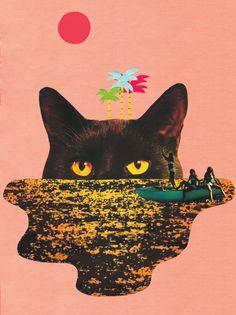 T-Shirt Original Femme   Cat Island de Jessdas   Monsieur Poulet