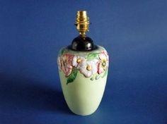 Carlton Ware Green 'Poppy and Daisy' Table Lamp c1948