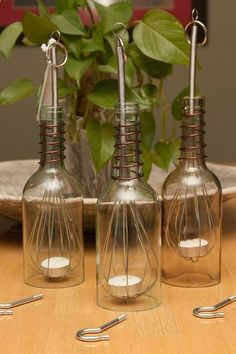 wine bottle crafts | Wine Bottle Luminary - Hanging | Craft Ideas... how nifty