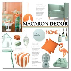 """""""Oui, Oui: Macaron Decor"""" by mada-malureanu ❤ liked on Polyvore featuring interior, interiors, interior design, home, home decor, interior decorating, Joybird Furniture, Innermost, Pillow Perfect and Hotel Collection"""